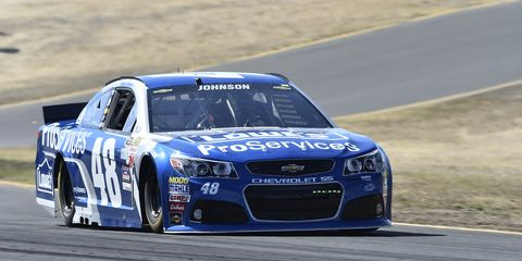 A late caution flag forced Jimmie Johnson to stay on track with old tires at Sonoma on Sunday. The bad luck may have cost Johnson the race.