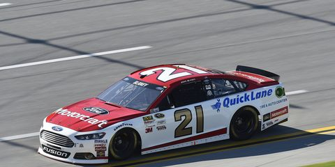 Ryan Blaney rockets to a fourth-place finish at Talladega on Sunday.