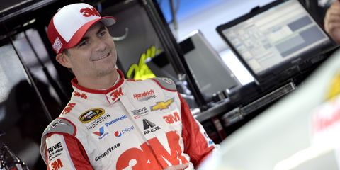 Jeff Gordon is concentrating on winning at Talladega this weekend.