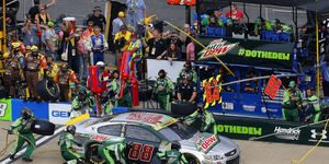 Dale Earnhardt Jr. came close to winning at Talladega and advancing in the Chase, but it wasn't to be.
