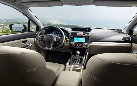 The Sport Limited trim also brings fog lights, turn-signal mirrors, roof rails, unique seat fabric and a leather-wrapped steering wheel.