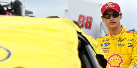 Joey Logano will start Saturday night's NASCAR Sprint Cup Series race at Richmond from the pole.