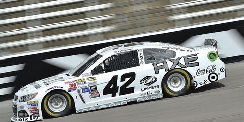 Kyle Larson was back in action after missing the race in Martinsville, Va., following a fainting spell.