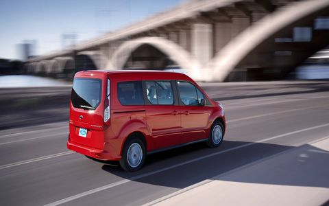 The 2014 Ford Transit Connect Titanium Wagon LWB handles remarkably well even when loaded down with gear.