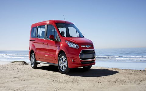 The 2014 Ford Transit Connect Titanium Wagon LWB receives and EPA-estimated 23 mpg combined fuel economy.