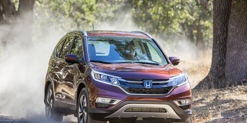 With Real-Time AWD sending 100% of its power to the front wheels most of the time, this is as much off-roading as you can do in the CR-V.