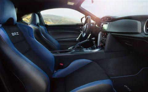The 2015 Subaru BRZ Series.Blue Edition has a cool, no-nonsense interior.
