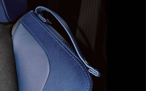 Blue accents can be found all over the interior of the 2015 Subaru BRZ Series.Blue Edition.