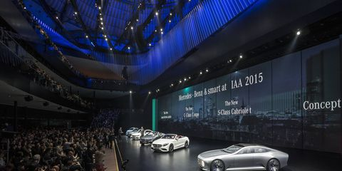 Mercedes unveiled the sleek IAA Concept at the 2015 Frankfurt motor show.
