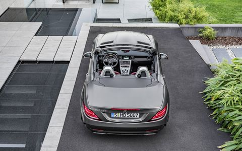The Mercedes-Benz SLC replaces the SLK in 2016.