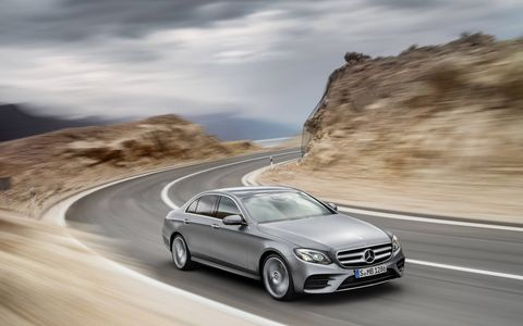 The E-Class made its debut before the Detroit auto show on Sunday.