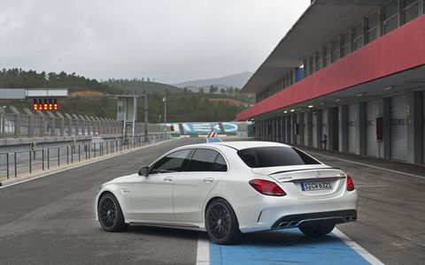 The power spectrum ranges from 469 hp in the C63 to 503 hp in the C63 S.