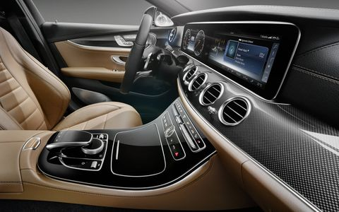 The optional piano-black wood trim adds a hint of elegance to the upcoming E-Class.