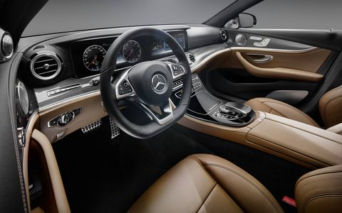 The massive iPad-esque infotainment screen and gauge cluster share a piece of glass but are actually different screens.