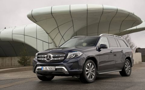 The front fascia of the GLS is more refined than the out-going GL, but the refinement goes out the window in AMG trim.