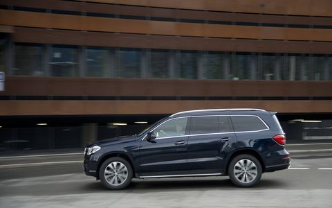 A side profile reveals the truth that this is just a renamed and refreshed GL-Class, but that isn't a bad thing considering how fond of our long term BlueTec we were.