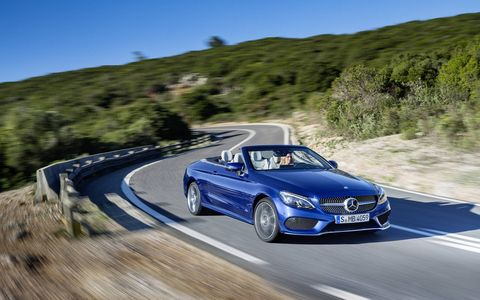 A photo gallery for the 2017 Mercedes-Benz C-Class Cabrio and C 43 AMG Cabrio.