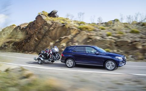The towing capacity of the GLE is up to 7700 lbs on non-diesel models.