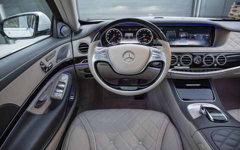 The Maybach is extra spacious with lavishly designed, prestigious interiors.