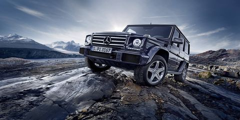 Mercedes-Benz G500: MSRP $120,825 – You may think of the G-Class as a mere luxury SUV for the Rodeo Drive crowd, but one look at the G-Wagen's history will explain its military roots and hard-core off-road chops. There's a ton of torque, a tough ladder frame and rigid front/rear axles that help this Benz tackle tough terrains. The downside? That MSRP (which is a starting price) makes it hard to stomach flogging on a dusty trail.