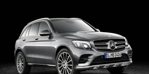 The top-dog GLC 63 and a milder version (GLC 43?) will be offered by Mercedes.
