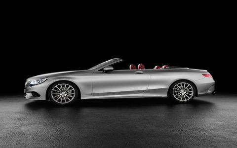 Mercedes showed the S-Class cabriolet ahead of its official Frankfurt motor show reveal.