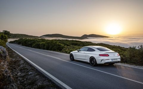 The 2017 Mercedes-AMG C63 Coupe and C63 S Coupe aren't just about style (though they've got plenty of that): They pack a twin-turbocharged 4.0-liter V8 good for up to 503 hp