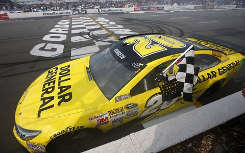 Matt Kenseth won at Pocono on Sunday after Kyle Busch and Joey Logano ran out of gas.