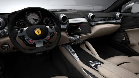 The Ferrari GTC4Lusso gets a modern infotainment system but a tough-to-use LATCH system for car seats.
