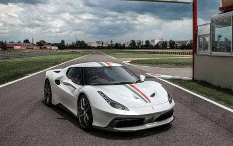 The 458 MM Speciale was built on the chassis and running gear of the 458 Speciale.