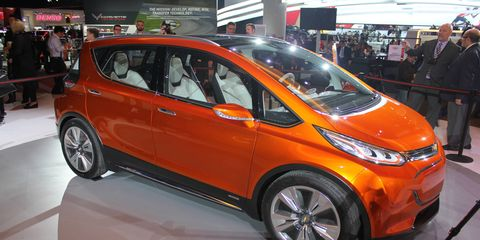 The new Bolt is bigger than the Volt, about the size of a Ford C-Max or small Mazda 5.