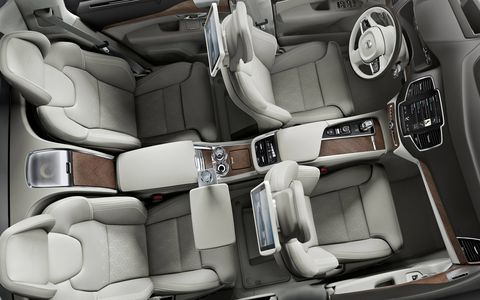 Volvo has moved the individual rear seats back.