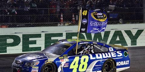 Jimmie Johnson goes after his record eighth Monster Energy NASCAR Cup title this season.