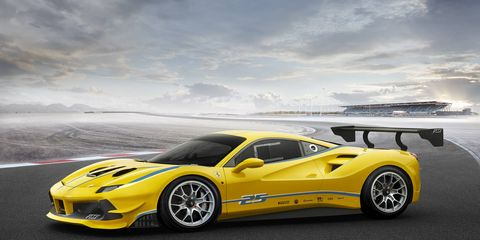 The new 488 Challenge race car lopped a full second off the Fiorano lap time of the old 458 Challenge car. The new car has its own specific engine mapping, shorter gear ratios , a new shifting strategy and even 62 pounds of weight shaved off the engine and exhaust.