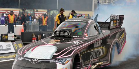 Alexis DeJoria enters the final three races of the 2016 NHRA season in 10th place in the Funny Car standings.