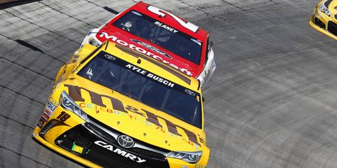 Kansas Speedway is one of the only NASCAR Sprint Cup tracks where Kyle Busch has not won.