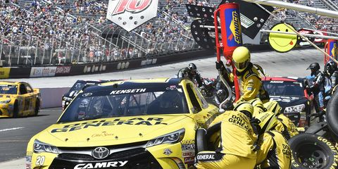 NASCAR teams are no longer being penalized for racing with less than all five lug nuts on each wheel.