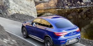 The pure-electric SUV is expected to be sized between the GLC-Class and GLE-Class, but use a unique platform. A Mercedes-Benz GLC-Class Coupe is pictured above.