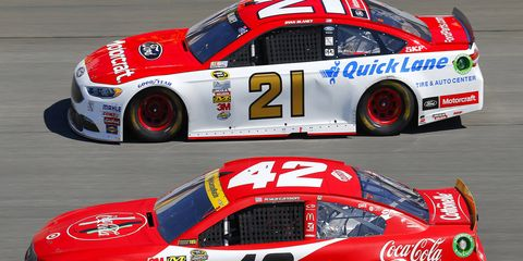 Ryan Blaney and Kyle Larson each have a win in 2017.