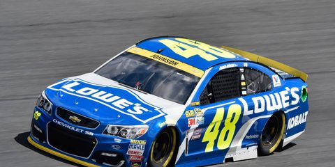 Jimmie Johnson and the rest of the Chase field will not be on the track Friday in Charlotte, North Carolina.