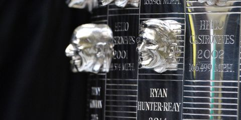 2014 Indianapolis 500 winner Ryan Hunter-Reay recently saw his face replicated on the Borg-Warner Trophy.