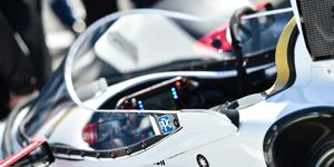 Josef Newgarden put the windscreen through its latest test on Monday.