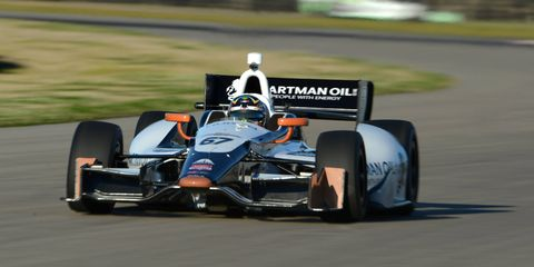 IndyCar driver Josef Newgarden tests at NOLA Motorsports Park.