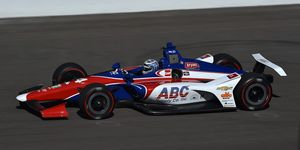 Tony Kanaan was quickest at the Indianapolis Motor Speedway on Monday.