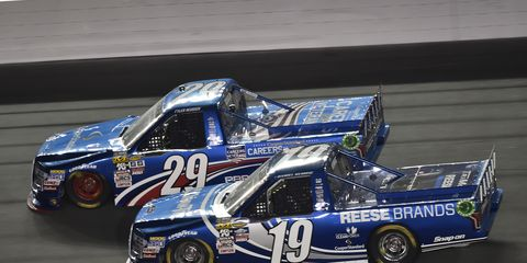 Teammates Daniel Hemric and Tyler Reddick are competing against the NASCAR Camping World Truck Series field, as well as each other, to make the Chase.