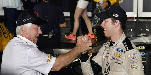 Team owner Roger Penske, left, and Brad Keselowski are once again among the favorites to bring home the Sprint Cup.