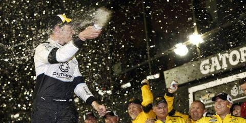 Brad Keselowski won Saturday night's NASCAR Sprint Cup race at Daytona.