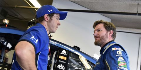 """After having some success (and then a big wreck at Talladega) with a chassis dubbed """"Amelia,"""" Dale Earnhardt Jr. has decided not to name his cars anymore."""