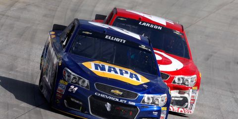 Chase Elliott will lead the field for today's Sprint Showdown, now scheduled for 11 a.m.
