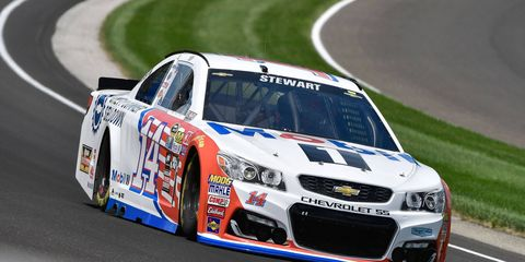 Tony Stewart is making his final start in a NASCAR Sprint Cup Series car at the Indianapolis Motor Speedway on Sunday.